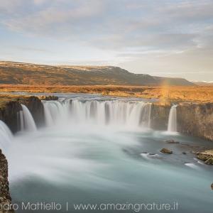 Arcobaleno su Godafoss waterfall